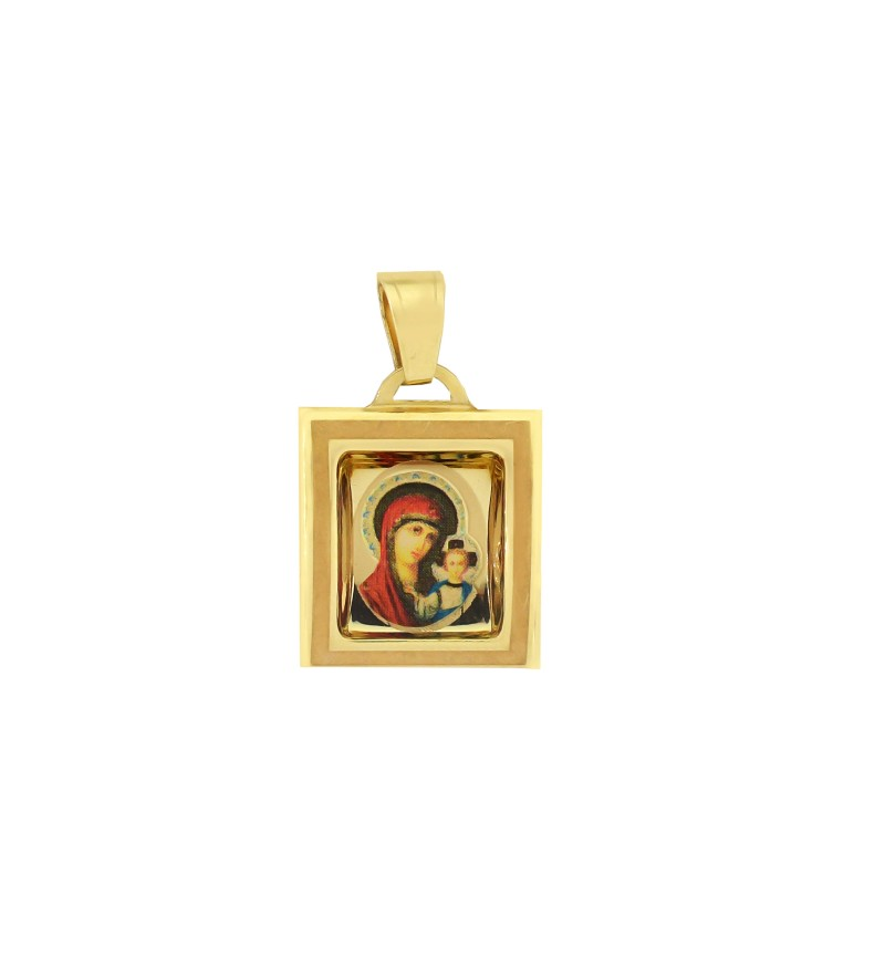 Yellow gold simple charm
