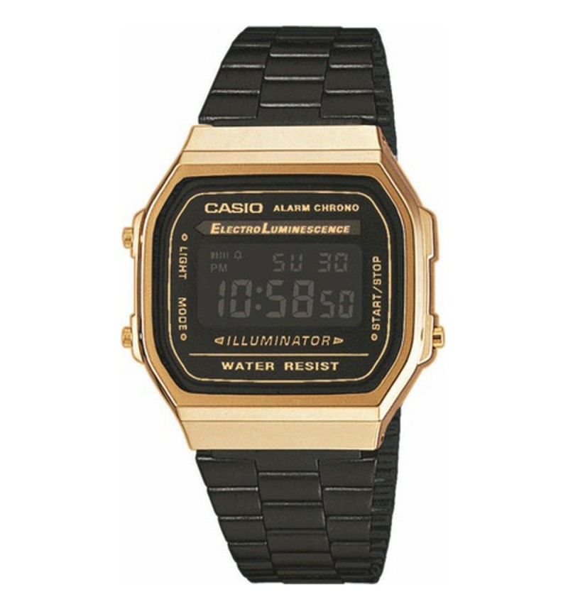 CASIO Collection Digital Gold-Black A-168WEGB-1BEF