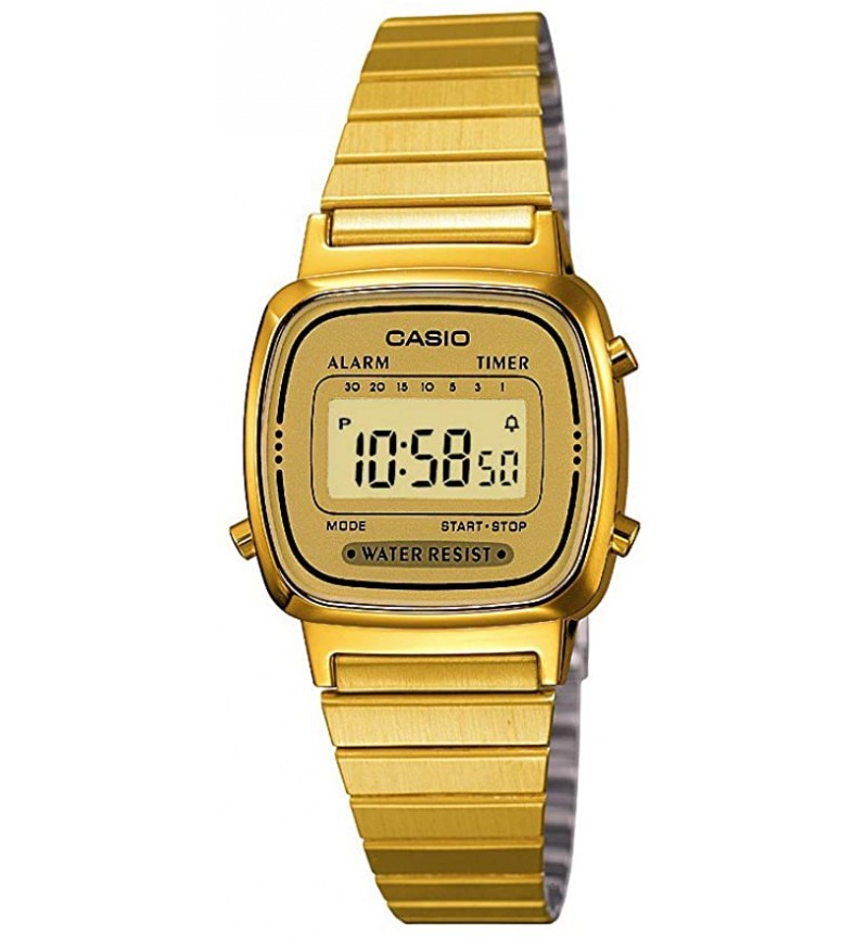 CASIO Collection Gold Stainless Steel Bracelet LA-670WEGA-9EF