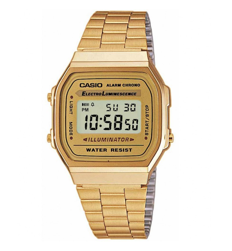 CASIO Unisex Classic Digital Bracelet Watch A-168WG-9EF