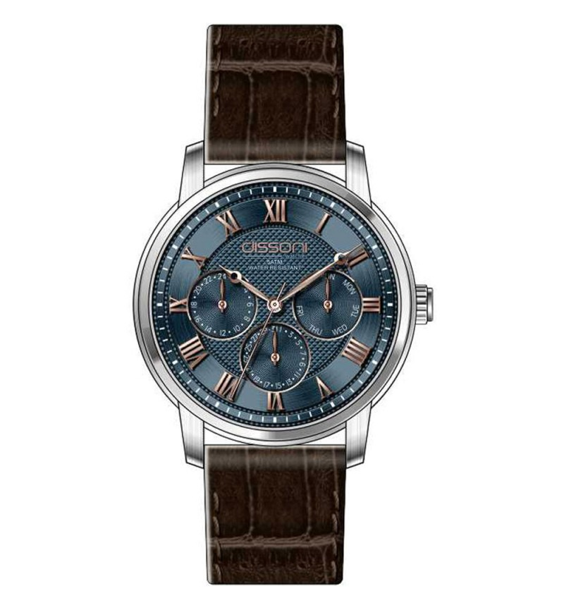 DISSONI Multifunction Brown Leather Strap