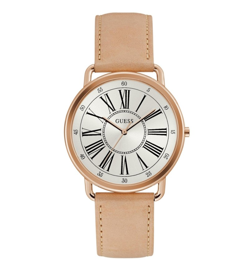 GUESS Ladies Beige Leather Strap