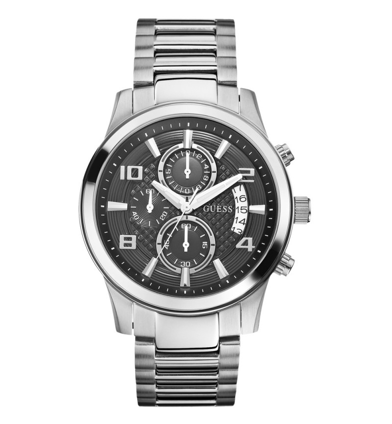 Guess Men Silver Stainless Steel Bracelet - W0075G1