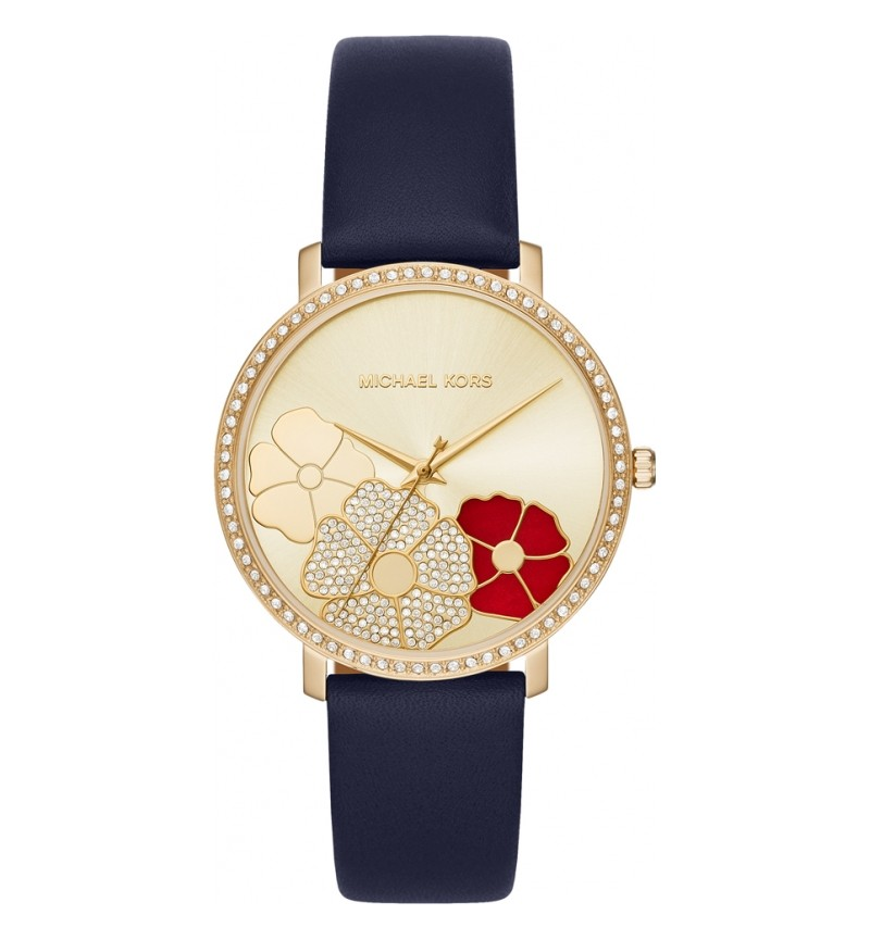 MICHAEL KORS  GOLD-TONE LEATHER WATCH MK2726