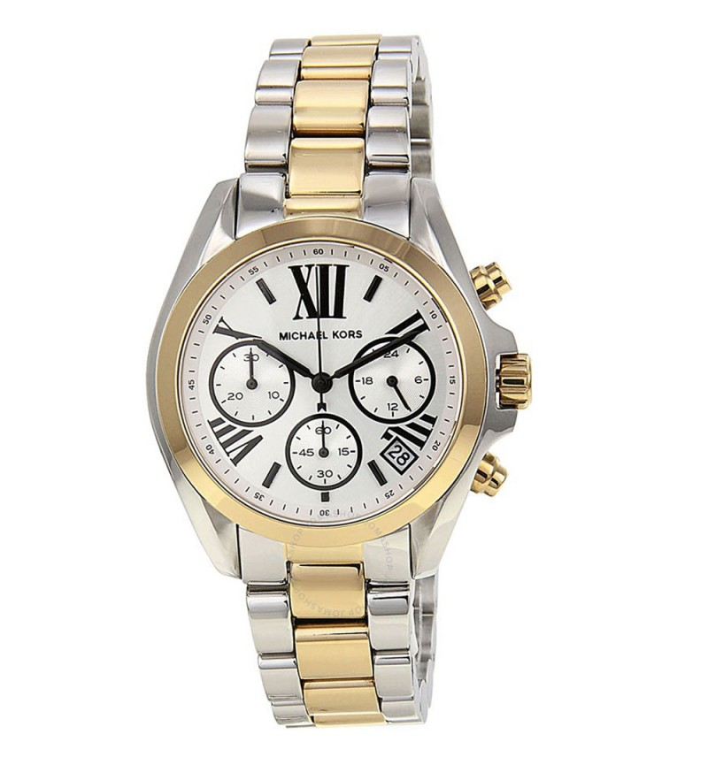Bradshaw Chronograph Silver Dial Ladies Watch MK5912