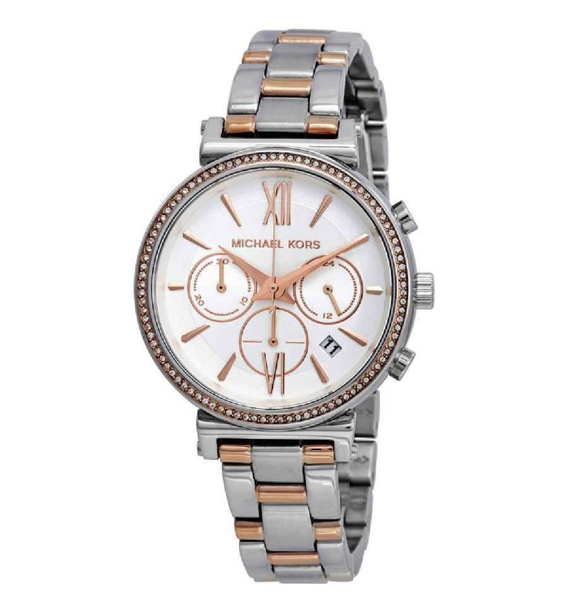 MICHAEL KORS SOFIE CRYSTALS TWO TONE MK6558