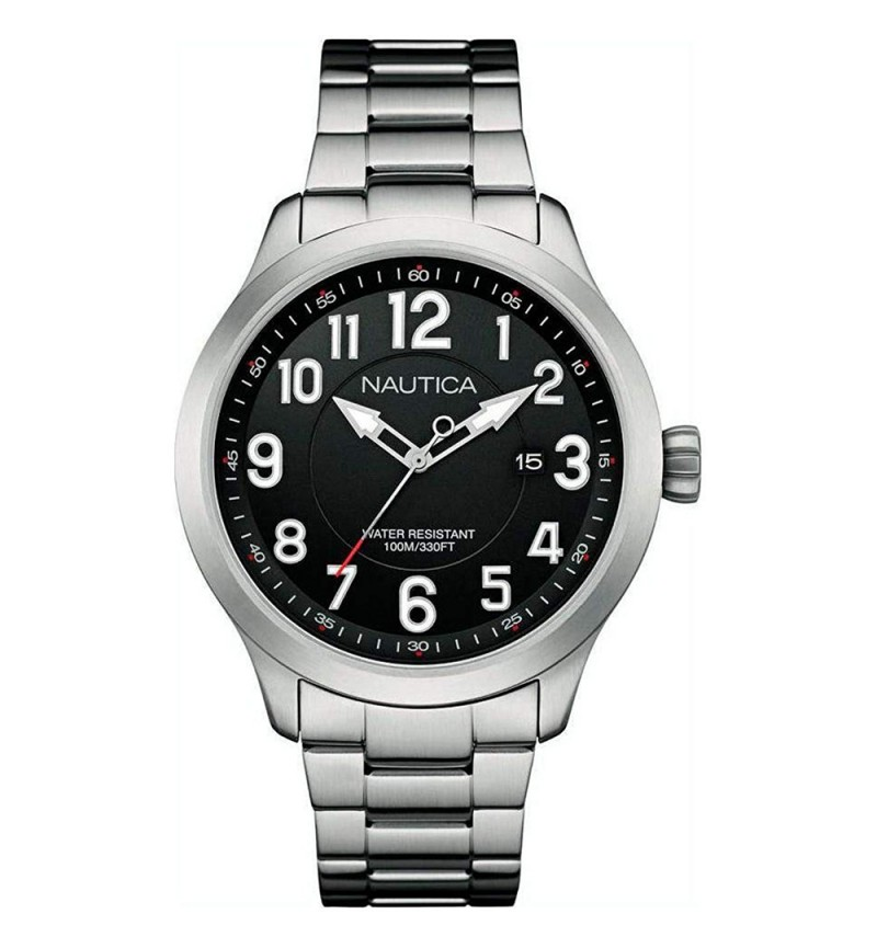 NAUTICA NAI12523 NCC 01 DATE STAINLESS STEEL BRACELET
