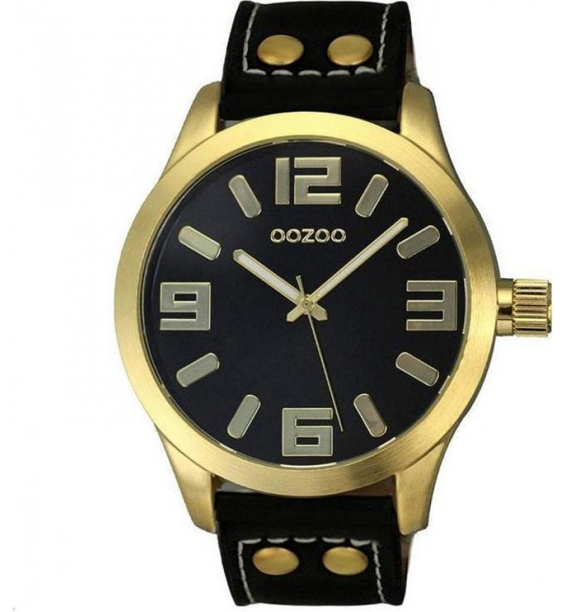OOZOO Unisex Black Leather Strap C5879