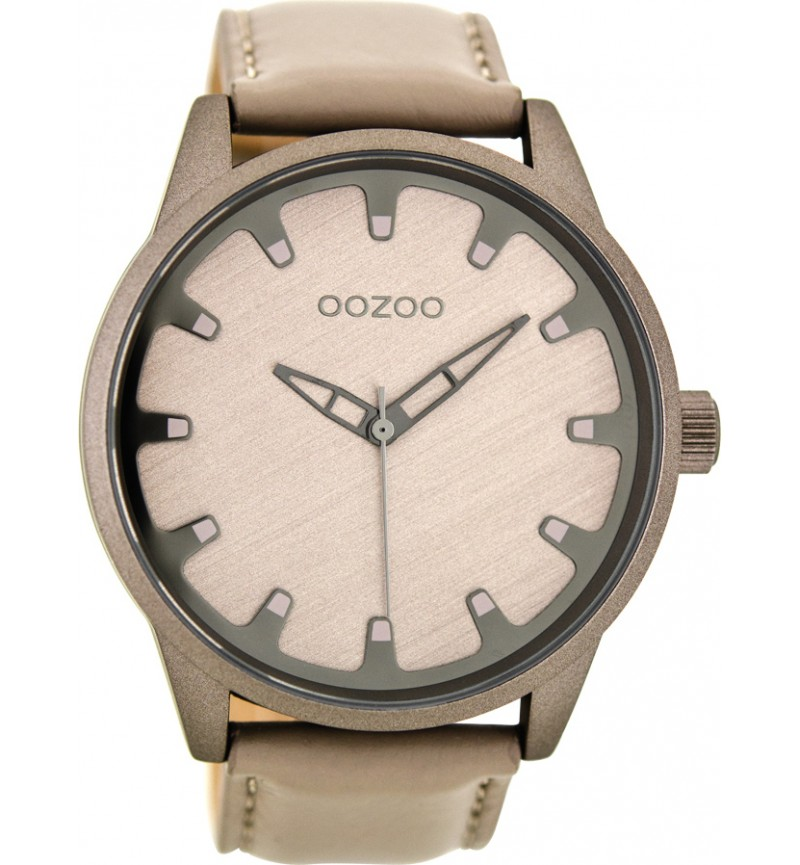 OOZOO Timepieces Beige Leather Strap C8546