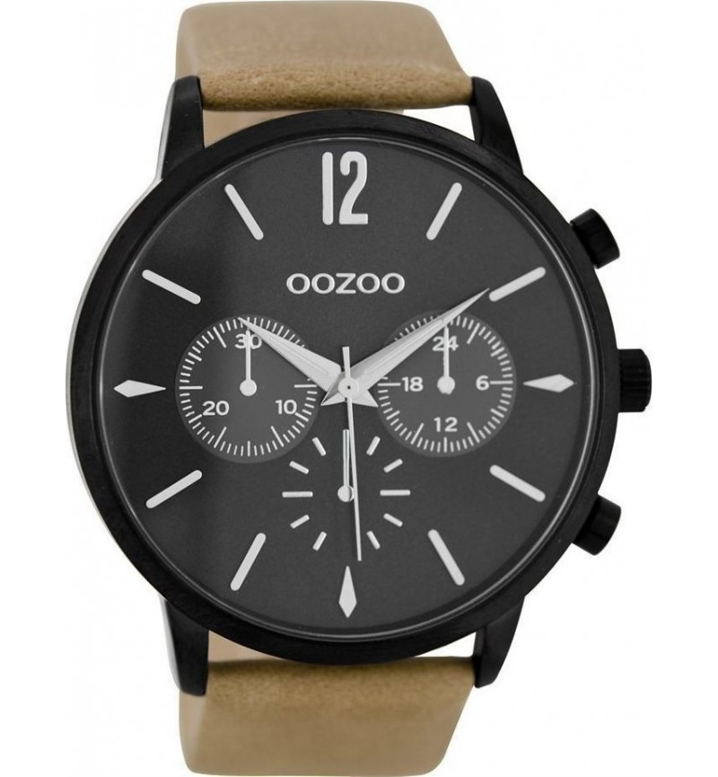 OOZOO Timepieces Brown Leather Strap C8770