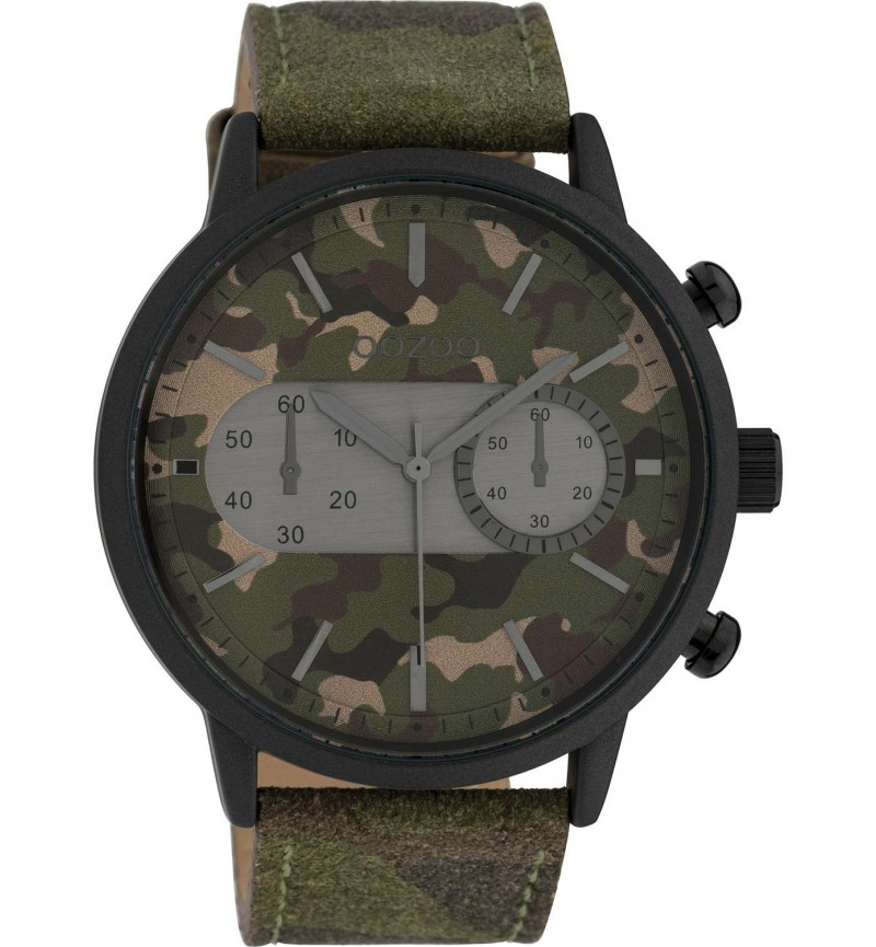 OOZOO Timepieces XXL Camo Leather Strap C10068