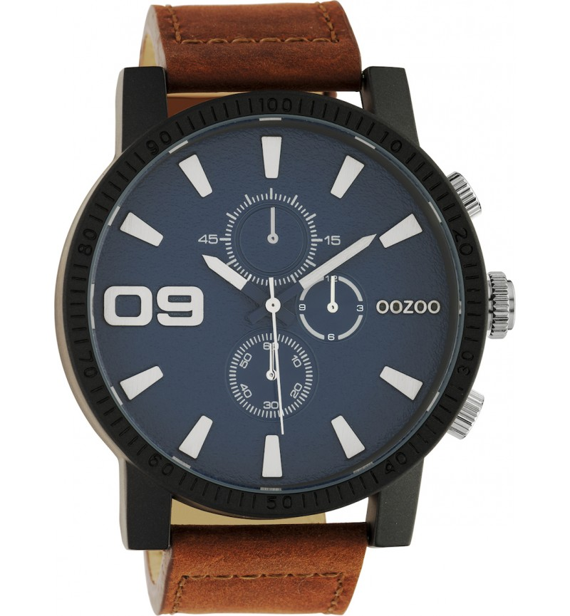 OOZOO Timepieces XXL Brown Leather Strap C10672