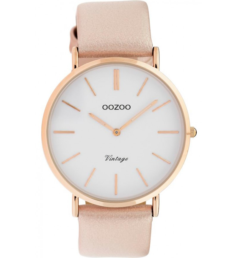 OOZOO Vintage Rose Gold Leather Strap C9962