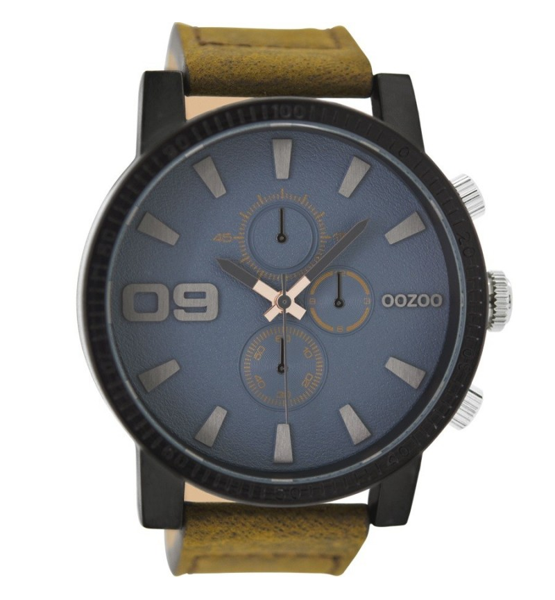 OOZOO Timepieces XXL Brown Leather Strap C9030