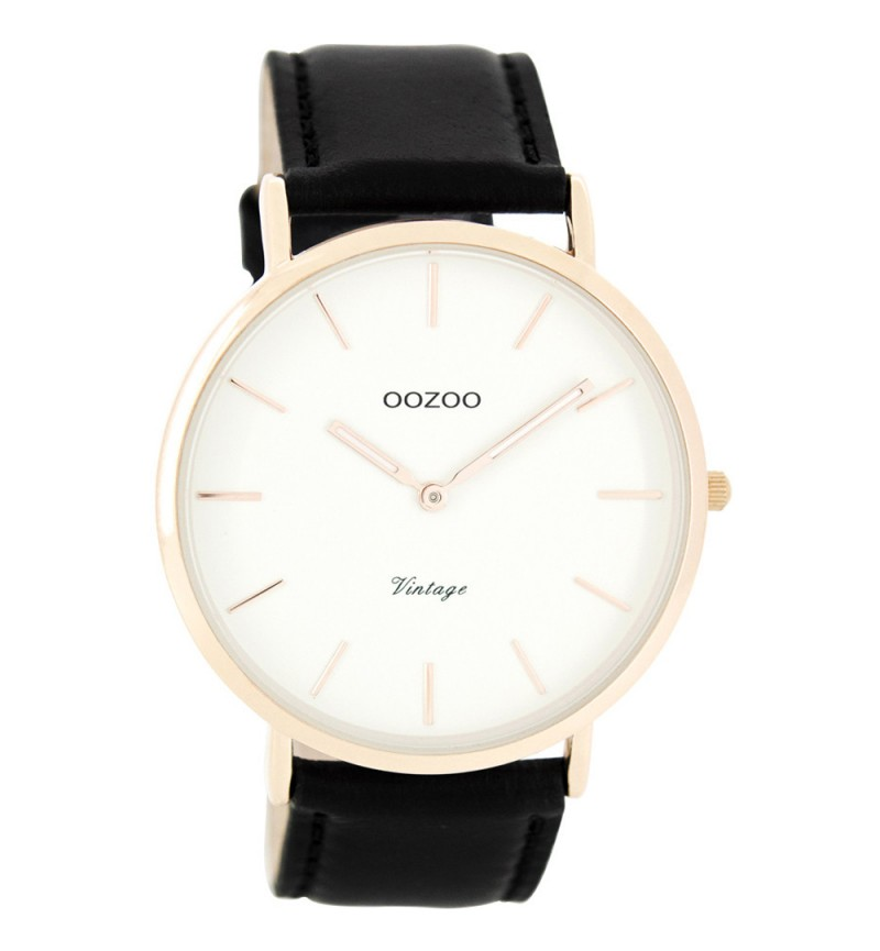 Oozoo Vintage Black - White Rose Gold C7757