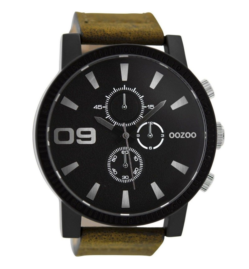 OOZOO Timepieces Brown Leather Strap C9033