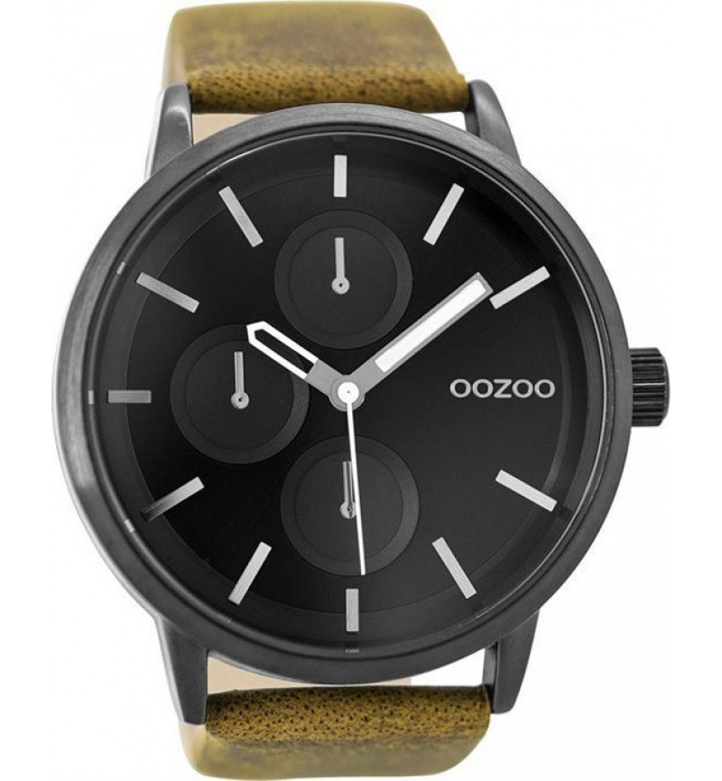 OOZOO Timepieces Brown Leather Strap C9428