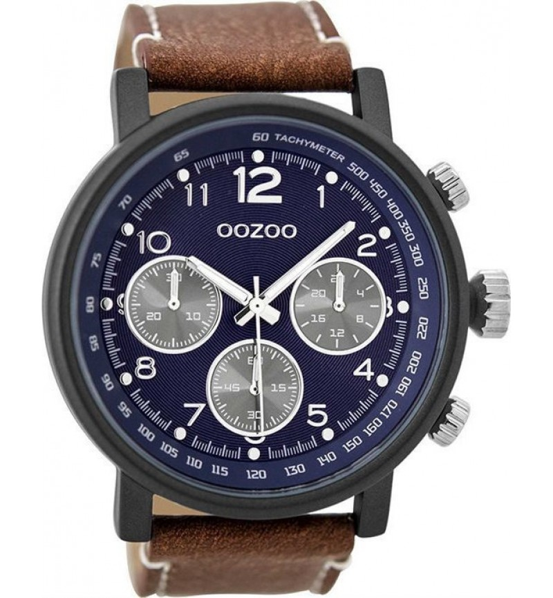 OOZOO Unisex Cognac Leather Strap C9456