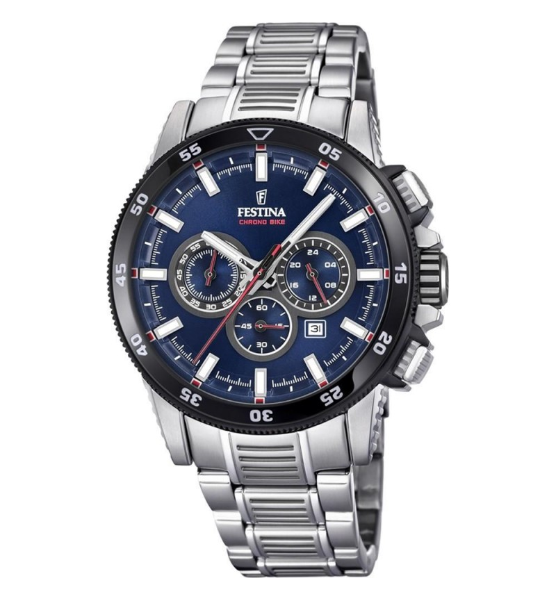 FESTINA Chrono Bike  , Silver case with Stainless Steel Bracelet - F20352/3