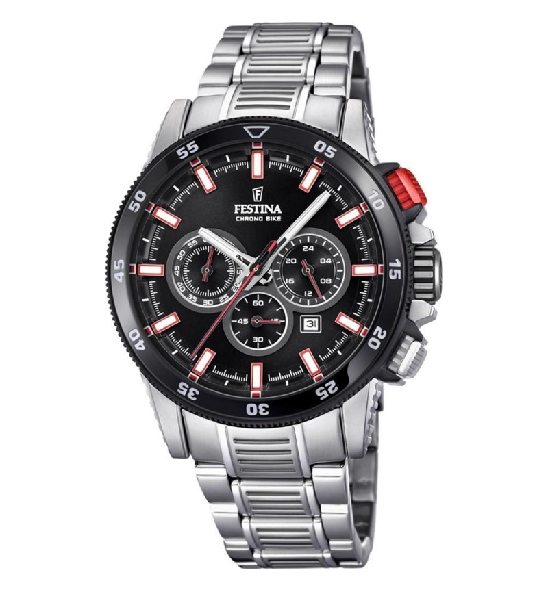 FESTINA Chrono Bike  , Silver case with Stainless Steel Bracelet-F20353/8