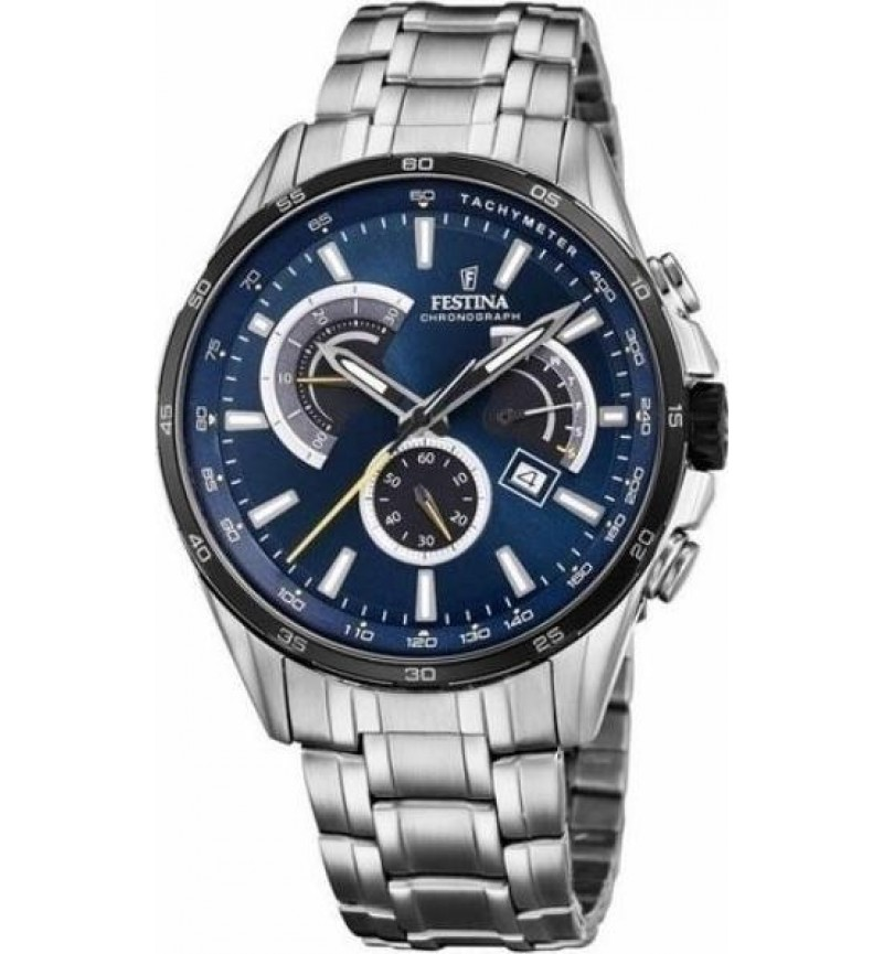 FESTINA Men's Chronograph, Silver case with Stainless Steel Bracelet - F20200/3