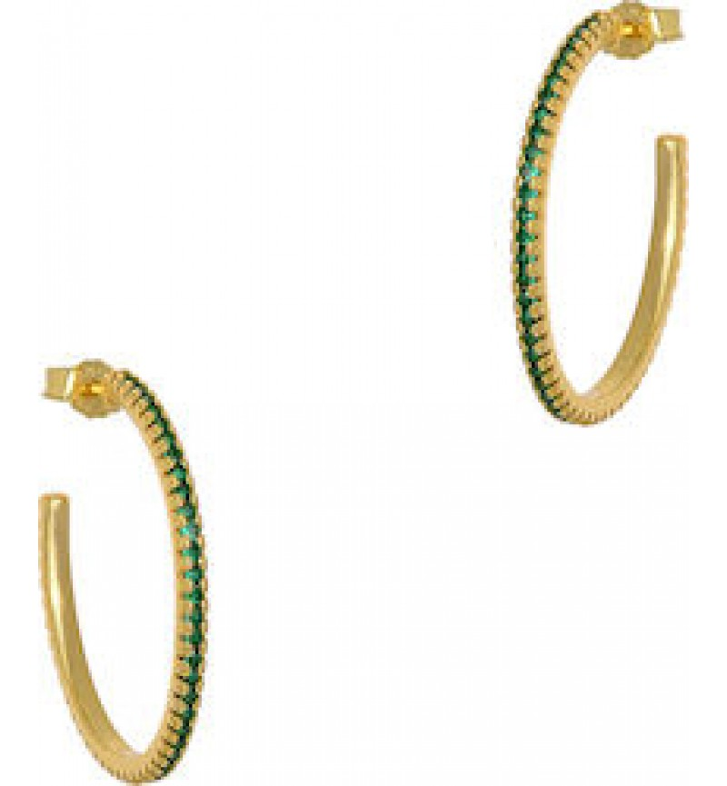 ΚΡΙΚΟΙ MINI ZIRCON HOOPS 1CM