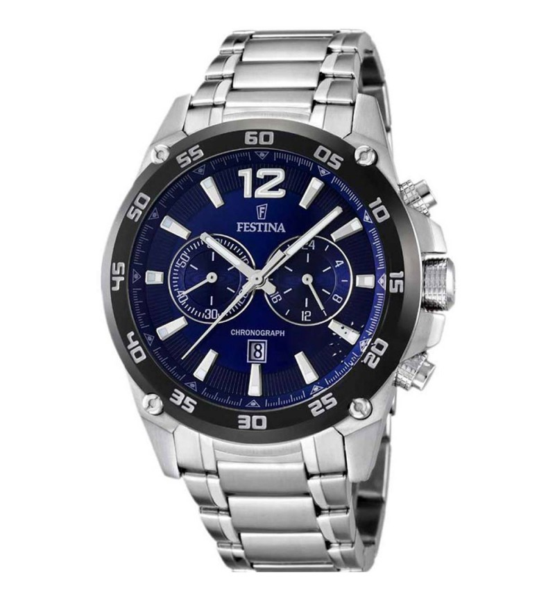 FESTINA Stainless steel blue chronograph F16680/2