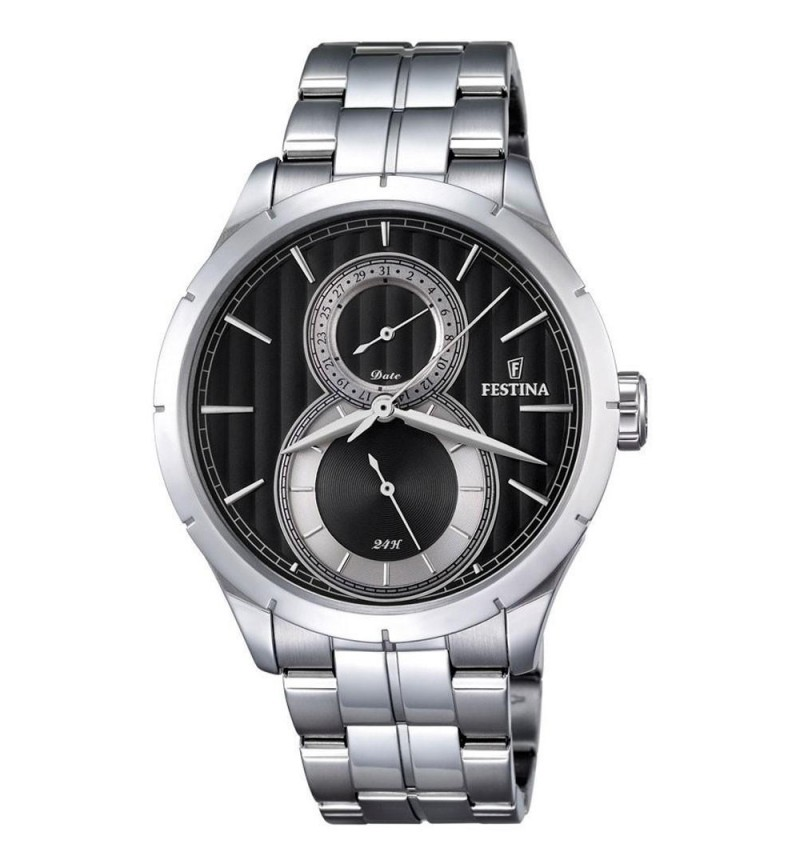 FESTINA Retro Men's  Silver case with Stainless Steel Bracelet - F16891/6
