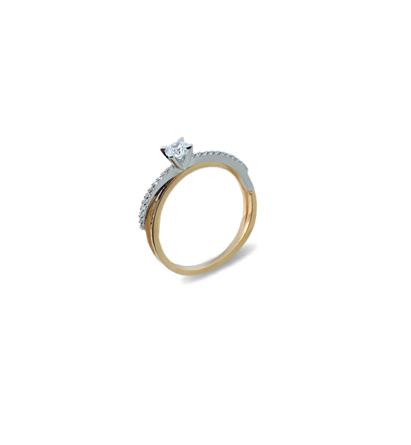 Ring with zircon 1073