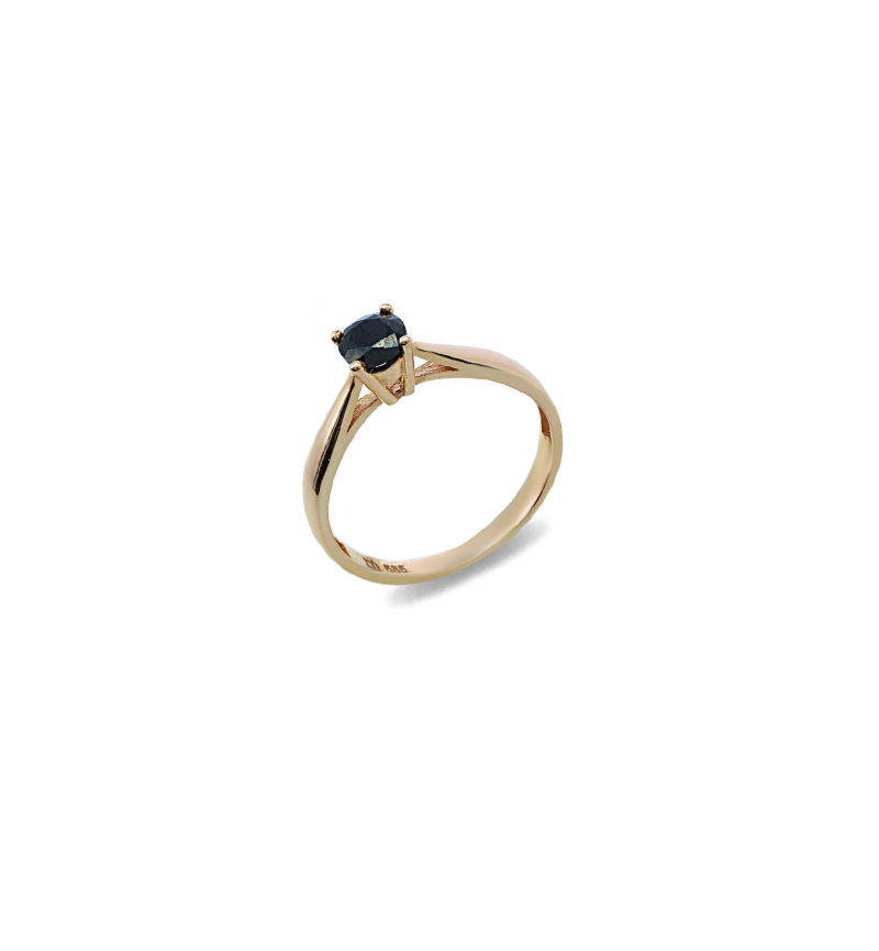 Ring with zircon 1081