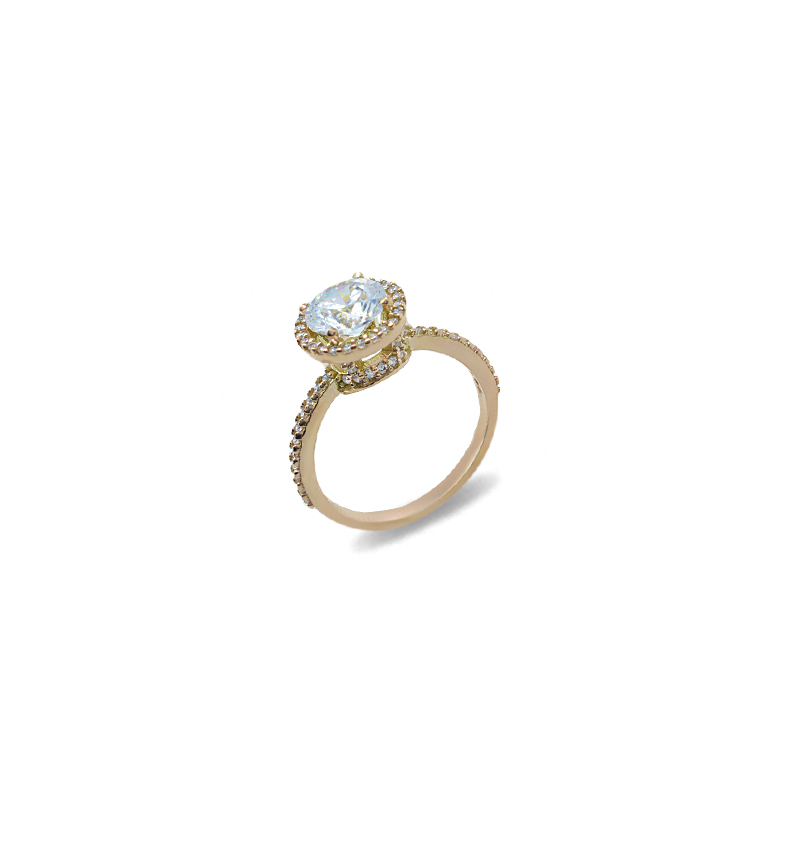 Ring with zircon 1110