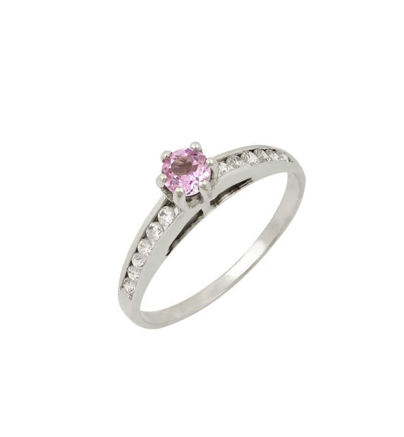 SOLITAIRE RING ROSE STONE