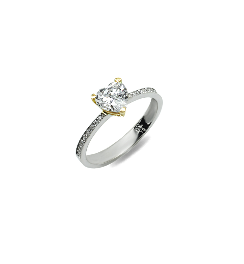 Ring with zircon 1111