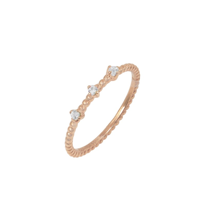 ΔΑΧΤΥΛΙΔΙ  tre diamond 0,09ct rose gold