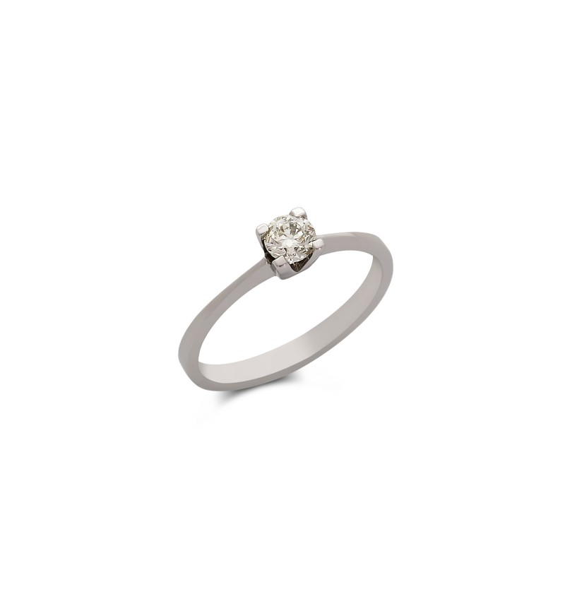 Diamond solitaire ring 714