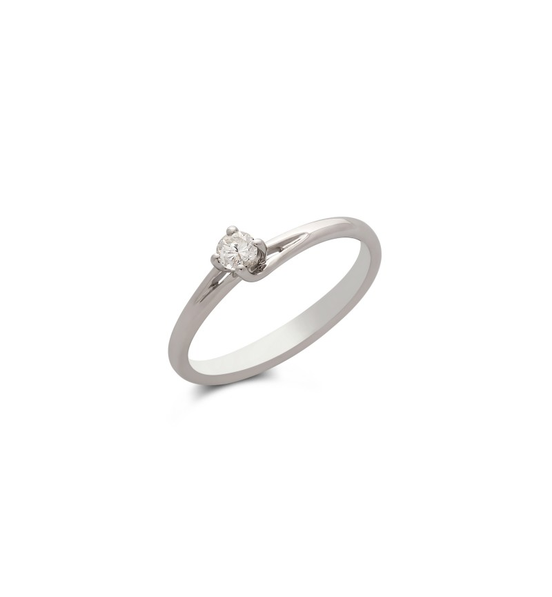 Diamond solitaire ring 763