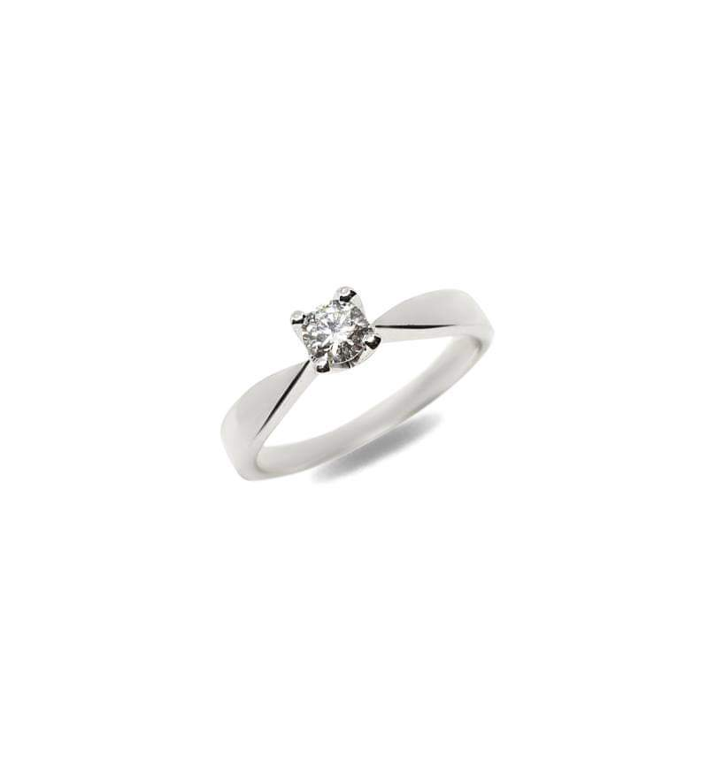 DIAMOND SOLITAIRE RING 0.15CT