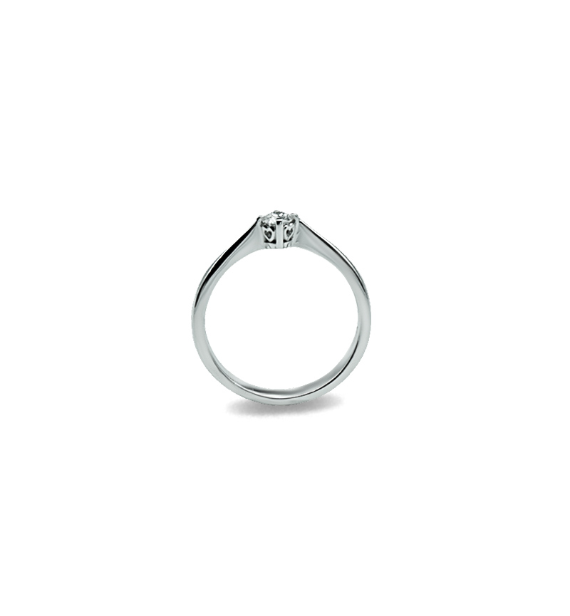 Diamond solitaire ring 0.18ct