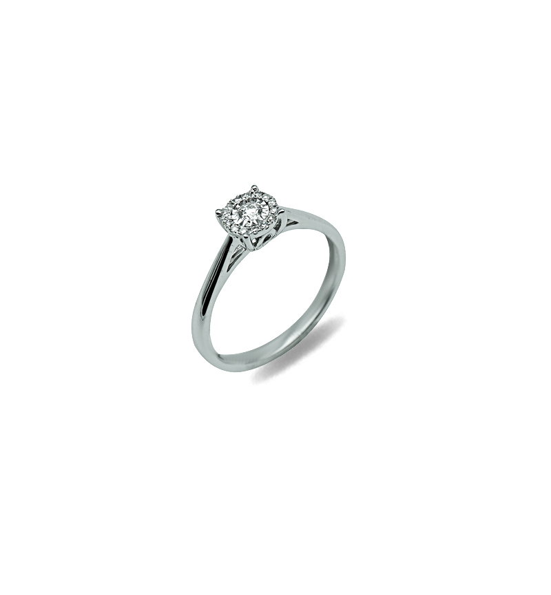 DIAMOND SOLITAIRE RING 0.10CT