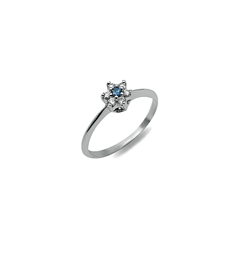 DIAMOND SOLITAIRE RING 0.14CT
