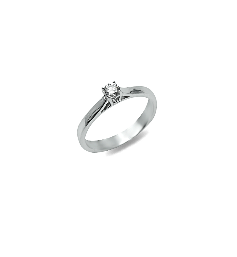 DIAMOND SOLITAIRE RING 0.20CT