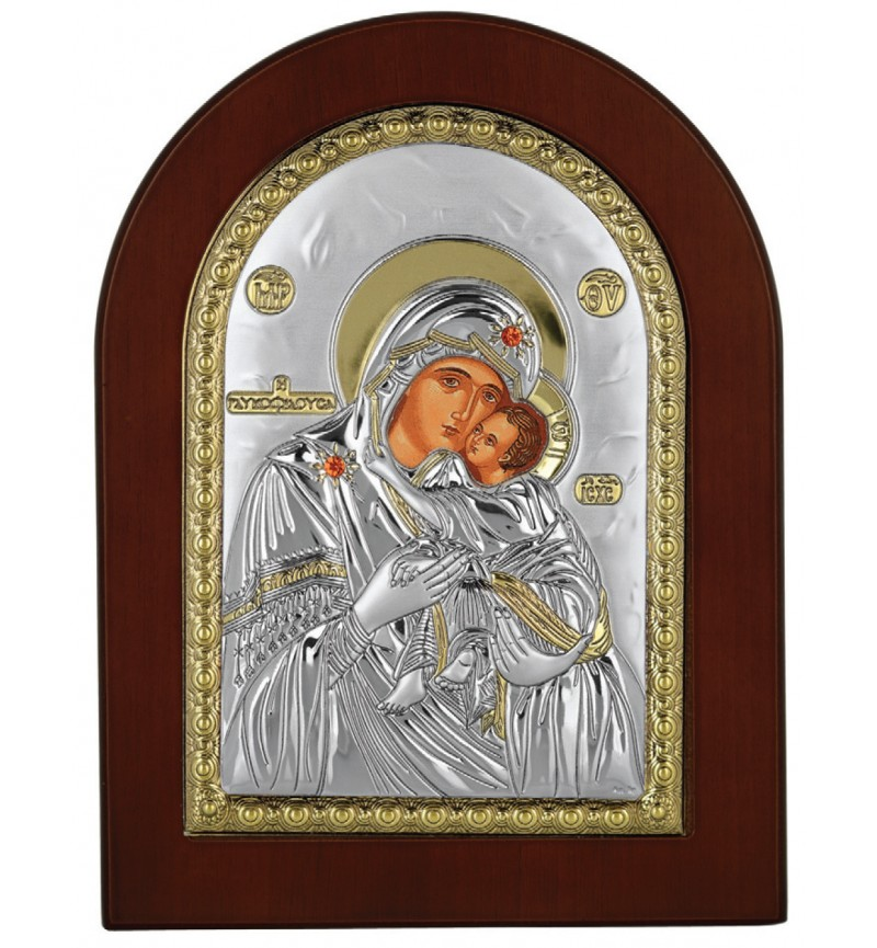 SILVER ICON VIRGIN MARY GLYKOFILOUSA MA-E1104-AX