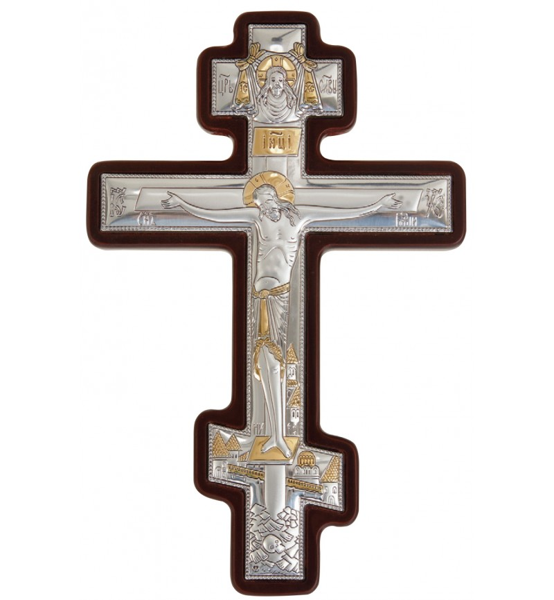 SILVER ICON CROSS MA-E1300-1BX
