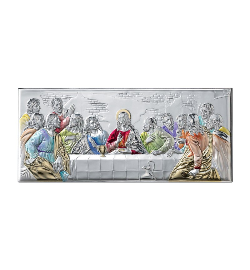 SILVER ICON THE LAST SUPPER MB-E1203-3XC