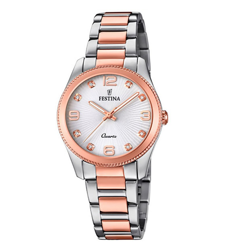 FESTINA Crystals Two Tone Stainless Steel Bracelet F20209/2