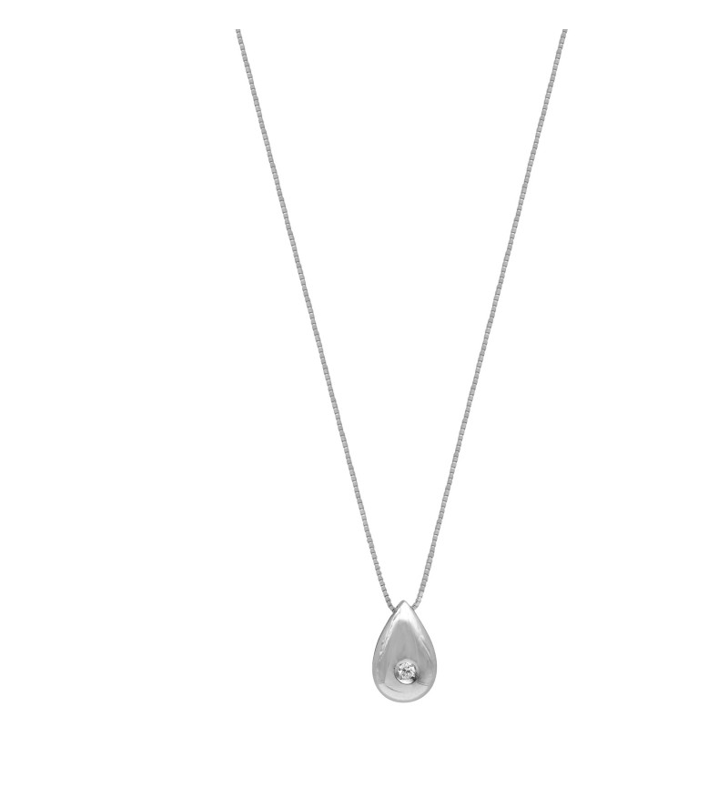ΚΟΛΙΕ WHITE GOLD BRILLANT MINI DROP