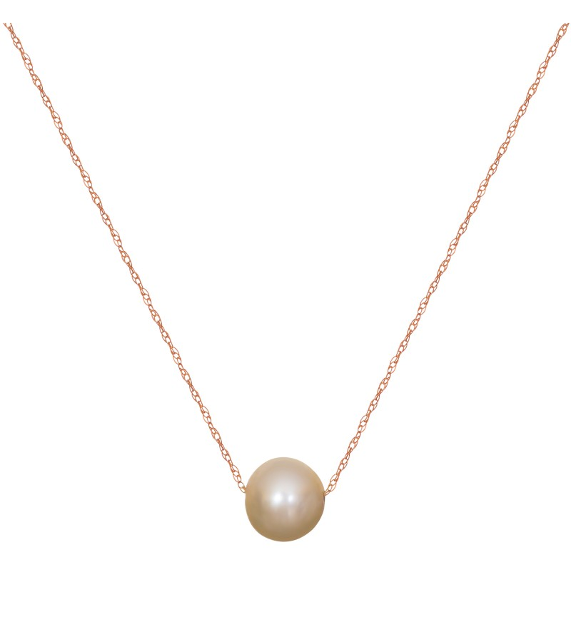 Necklace pearl rose gold (economy)