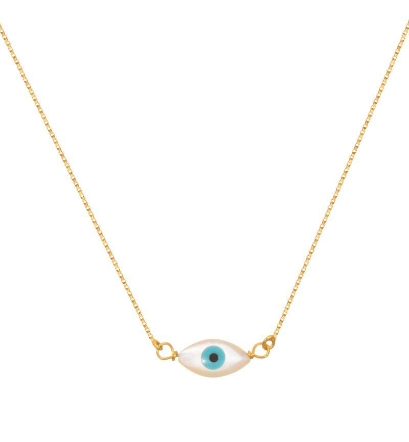 Gold eye necklace
