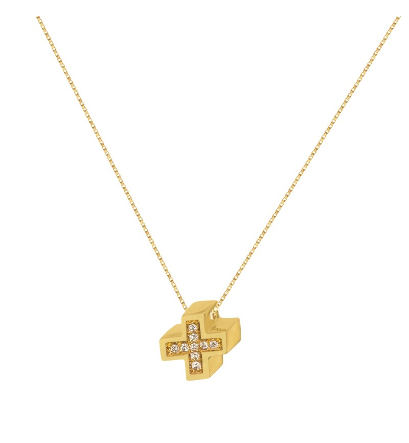3D cross necklace
