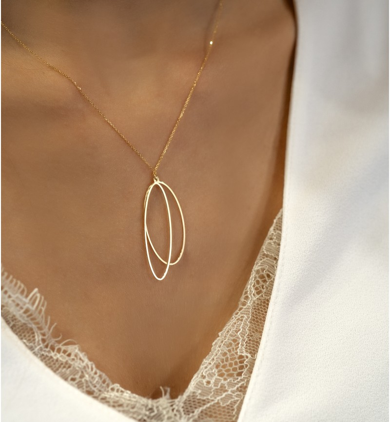 NECKLACE MINIMAL OVALS